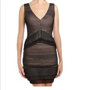 BCBGMaxazria Black Overlay Sleeveless Sven Dress